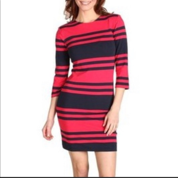 French Connection Dresses & Skirts - French Connection black and red knit dress